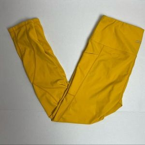 ALONG FIT yellow leggings with side pockets XL